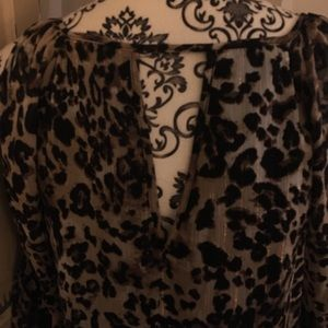 by & by Tops - Brand: by&by, cheetah-print open arm blouse top